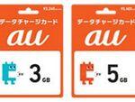 au、データ容量を買い足し・プレゼントできる「データチャージカード」販売開始