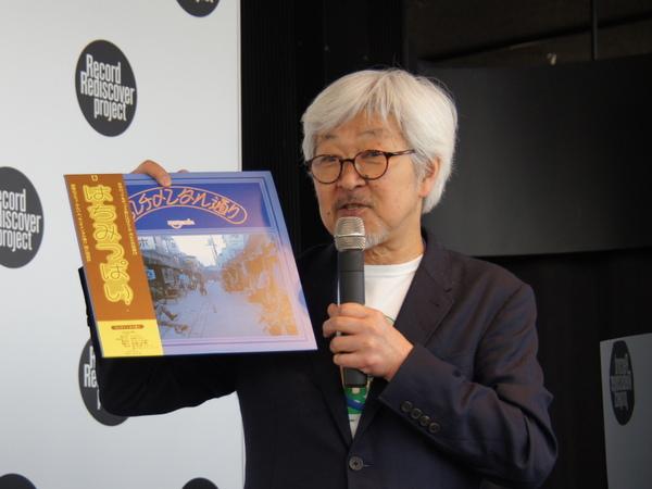 オーディオ評論家の和田博己さん。同氏も参加したはちみつぱいの「センチメンタル通り」から「薬屋さん」をかけた