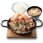 お好み焼き+チキンカツ丼=最強