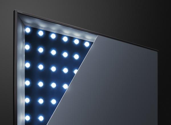 バックライトは直下型を採用。ただしZ20Xの高輝度タイプではない