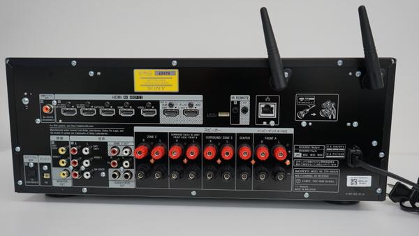 STR-DN1070の本体背面。
