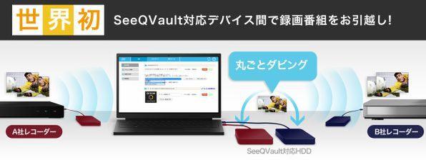 「SeeQVault」でバックアップした録画番組を丸ごとダビングできる