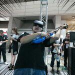 TGSで存在感を放っていたHTC Viveのグリーンバック合成、剣舞に酔いしれたり、ライブに参加したり