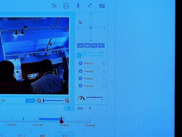 PCでは画面右にコントロール用のUIが表示され、カメラのパンやチルトが可能