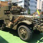 米軍のハーフトラックと昭和のカッコいい車を見てきました