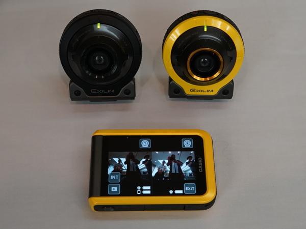 FR200とFR100、両方のカメラ部をFR100のモニターでコントロール