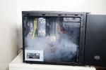 煙幕でPCケース内のエアフローを可視化した