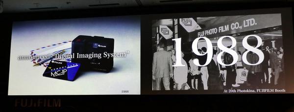 1988年にはデジタルカメラを発表