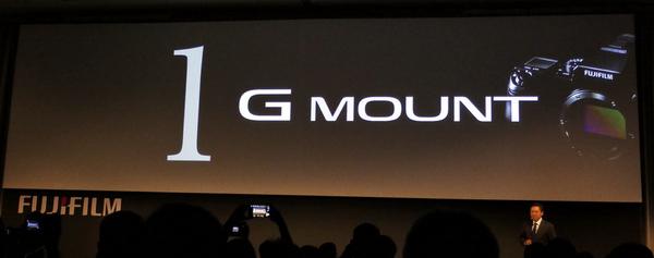 レンズマウントの名前は「G」