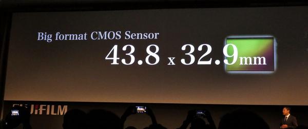 新開発のCMOSセンサーは43.8×32.9mmサイズ
