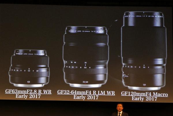 同時発売のレンズは標準の63mmF2.8とズームの32-64mmF4、そしてマクロの120mmF4の3本