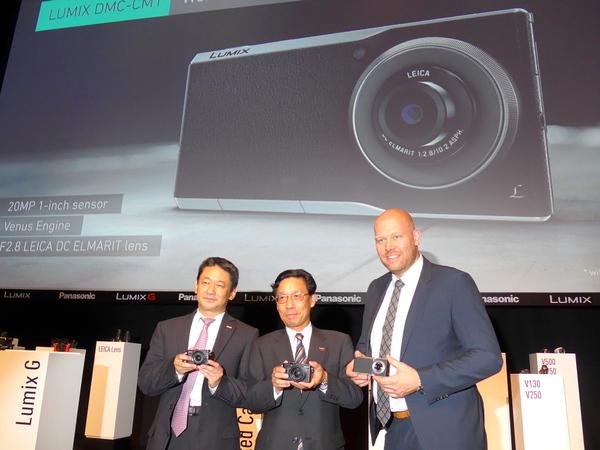 2014年のPhotokinaで話題の中心となったAndroid搭載カメラ「CM1」の発表会
