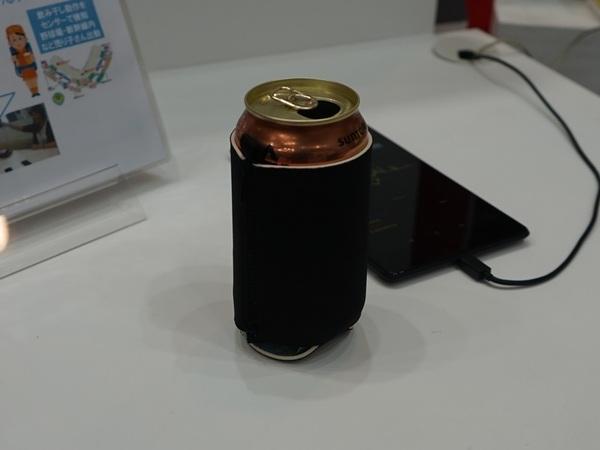 ビール缶などに巻きつけ、乾杯を検知するデバイス。全国の乾杯状況をクラウドで管理するとのこと