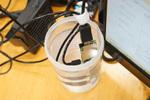 Atom版スティックPCを精製水と無水エタノールに浸す