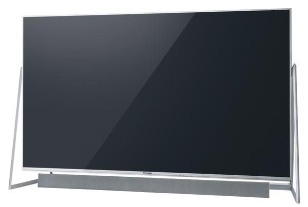 浮遊感を演出した独特なデザインの「DX800」。合計12個のユニットを搭載するバースピーカーを搭載。画面サイズは58/50V型。50V型の実売価格は30万円前後