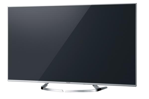 4パターンに変形するスタンドを装備する「DX770」。画面サイズは58/50V型。50V型の実売価格は23万円前後