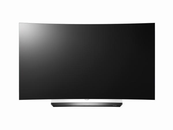 曲面タイプの有機ELテレビ「OLED55C6P」。画面サイズは55V型のみ。実売価格は50万円前後