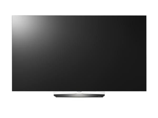 有機ELテレビのスタンダードモデル「OLED B6P」シリーズ。3D表示機能は省かれている。画面サイズは65/55V型で、55V型の実売価格は43万円前後