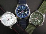 陸・海・空の防衛省幕僚監部提供正式ロゴを採用した腕時計
