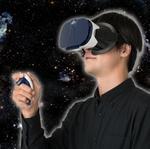 コレ着けてたら浮くわ…宇宙で! 1万円で買えるVR宇宙探検