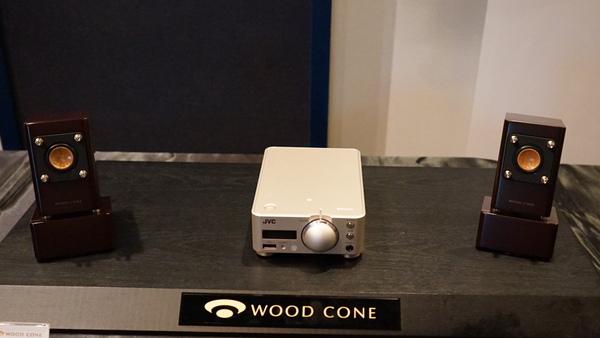 ウッドコーンスピーカーがセットになった「EX-NW1」