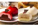 ローソン、「おひとり様用」クリスマスケーキ「赤/白」