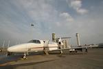空の安全を確保する飛行機「チェックスター」を見に行った