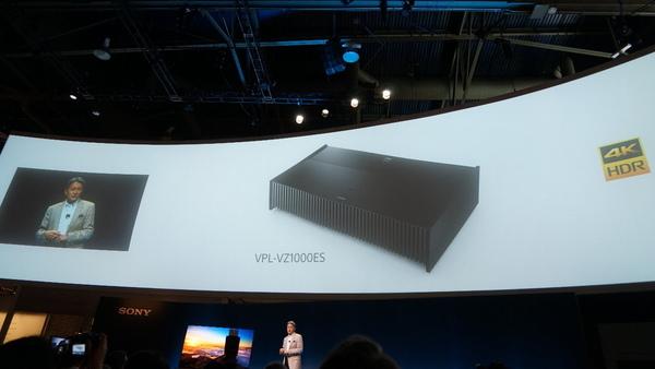 4K 超短焦点レーザー光源プロジェクターの「VZ1000E」