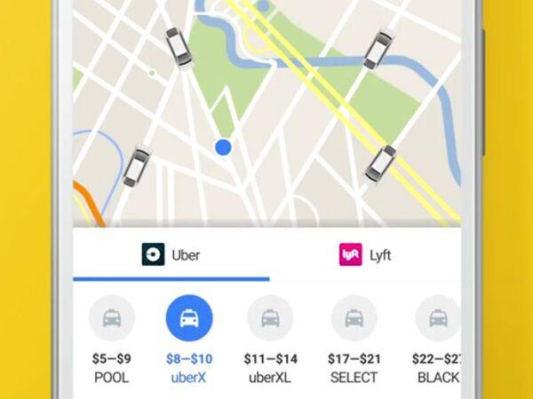 米グーグル、Google MapからUber配車可能に