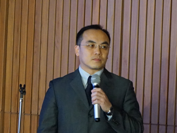 台湾本社から駆けつけたアジアパシフィックプレジデントのJeffrey Liang氏