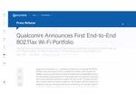 クアルコム、11ax Wi-Fiをサポートする初のチップセット「IPQ8074」と「QCA6290」を発表