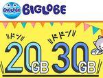 BIGLOBE SIM、20GB/30GBの大容量プランを追加