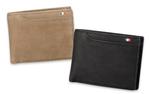 希少なラクダ革を使った、最大21個のポケットを備えた二つ折り財布
