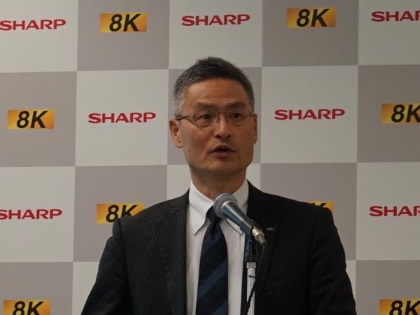 ディスプレイデバイスカンパニー デジタル情報家電事業本部副事業本部長の喜多村和洋氏