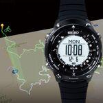 セイコー、行動軌跡を3Dで可視化するソーラーコネクテッドウォッチ「ランドトレーサー」