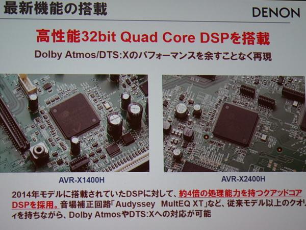 32bitの4コア DSPを採用する