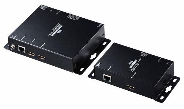 「VGA-EXHDPOE2」。送信、受信用のアダプターがセットになっている