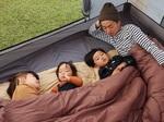 家族みんなで一緒に寝よう! 大人4人で使える特大シュラフ