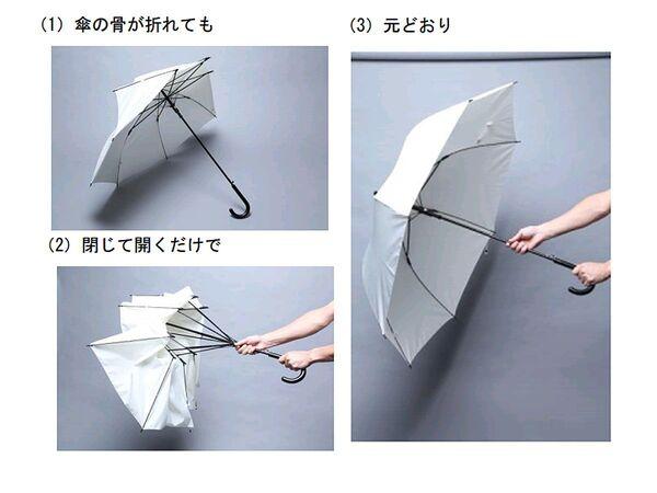 日本郵便、骨を折って力を逃す雨傘「ポキッと折れるんです」発売
