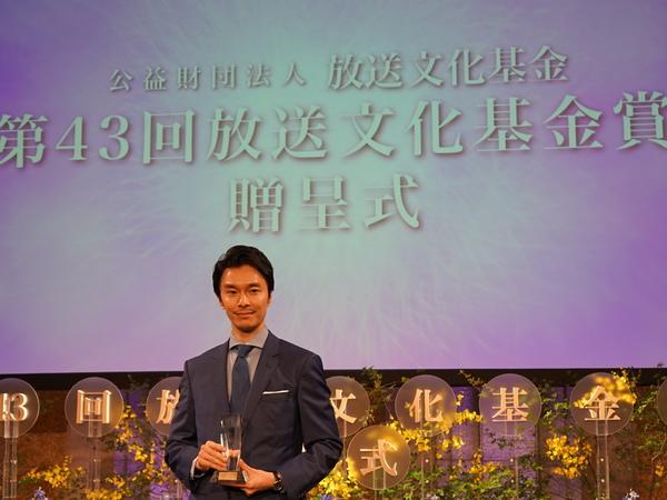「土曜ドラマ 夏目漱石の妻」で演技賞を受賞した長谷川博己さんが登壇