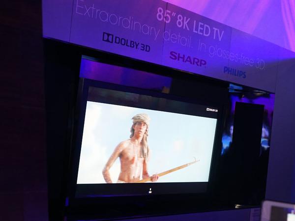 2014年にはシャープが8Kの裸眼3Dテレビを参考展示していた