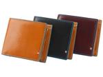 トスカーナレザーの財布にターコイズブルーがよく映える