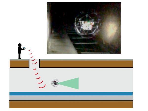 ブルーイノベーション、国内初のドローンによる老朽下水管きょの点検調査