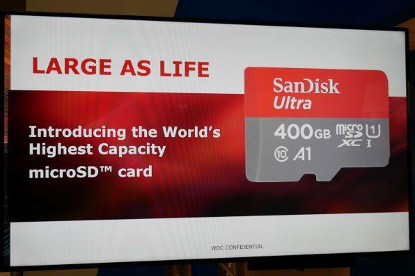microSDカードで容量400GB実現は世界初かつ世界最大容量