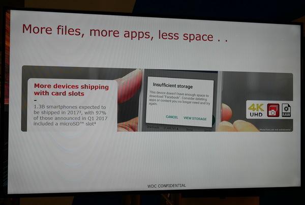 スマートフォンユーザーの多くがメモリー不足に悩まされており、その解消に最適と説明