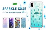 かわいいイラストと豪華なラメが特徴的なiPhone X/8用ケース