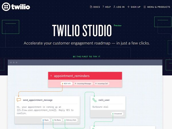 電話やチャット、ビデオなどのコミュニケーションワークフローを簡単に構築「Twilio Studio」