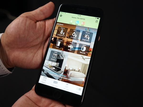 専用スマホアプリのホーム画面