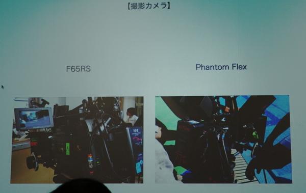 撮影に使用した2台のカメラ