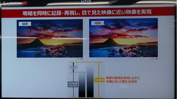 肉眼で見るのに近い映像表現を実現する「HDR」